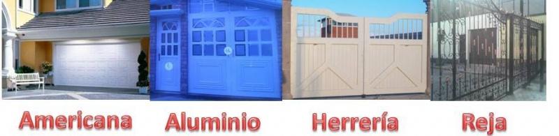 Fabricaci n de puertas y portones puertas automaticas for Puertas de herreria de cuadros